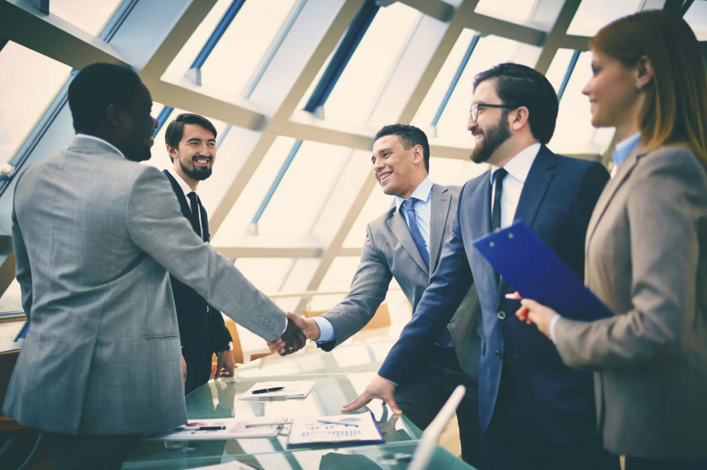Accountants come together to meet and discuss business